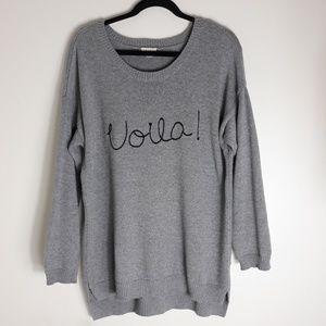 Maison Jules| Voila Gray Sweater (B210)